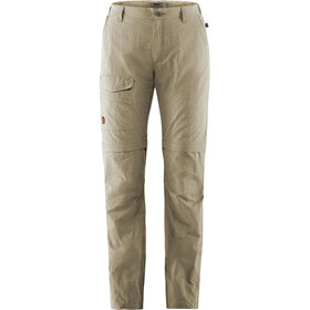 Fjällräven Travellers MT Pantalones Zip-Off Mujer, light beige